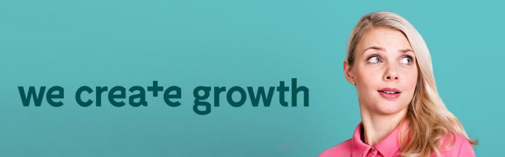 we create growth banner