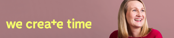 We create time banner
